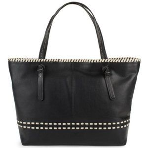 NWT Cole Haan Large Black Leather Tote